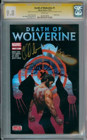Death Of Wolverine #1 CGC 9.8 Signature Series Signed x4 Soule McNiven Marvel comic book